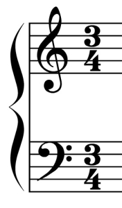 three-four time signature